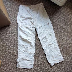 womens sz 6 koppen pants zip off to shorts no fly